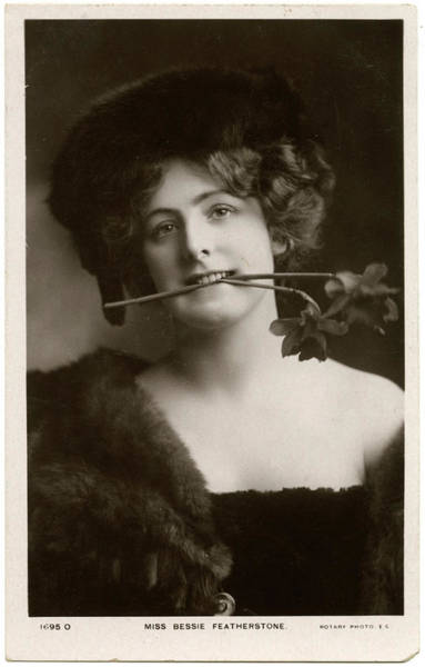 Wall Art - Photograph - Bessie Featherstone, Actress by Mary Evans Picture Library