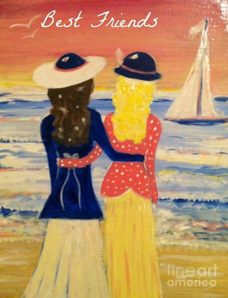 Painting - Best Friends Greeting Card by Jacqui Hawk