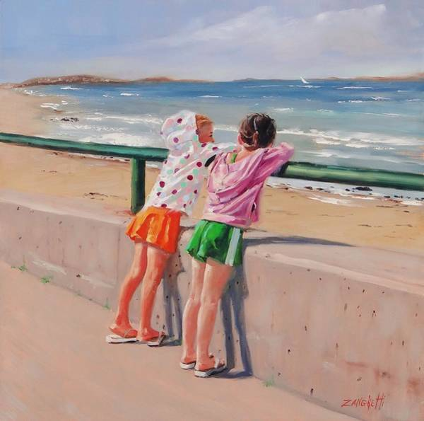 Hoodie Wall Art - Painting - Best Friends Two by Laura Lee Zanghetti