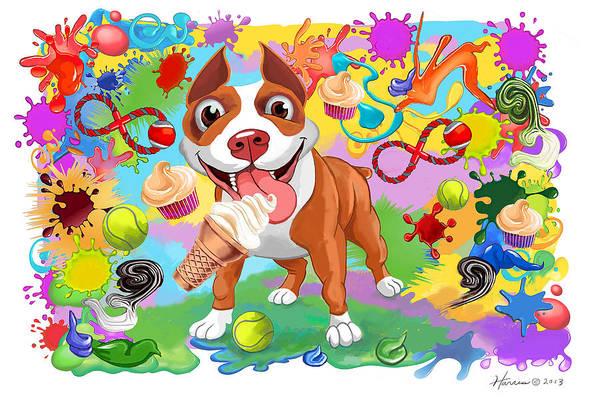 Ice Cream Cones Digital Art - Best Present Ever by Frank Harris