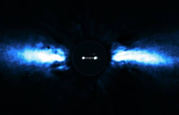 Ir Photograph - Beta Pictoris Planet And Disc by European Southern Observatory/a.-m. Lagrange/science Photo Library
