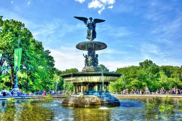 Bethesda Fountain Photograph - Bethesda Fountain At Central Park by Randy Aveille