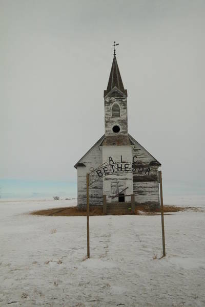 Middle Of Nowhere Photograph - Bethesda Lutheren Church Western North Dakota by Jeff Swan