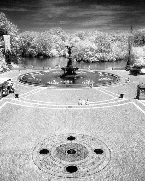 Photograph - Bethesda Plaza Central Park by Dave Beckerman