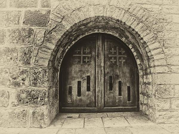 Photograph - Bethlehem Doorway Antiqued by Mark Fuller
