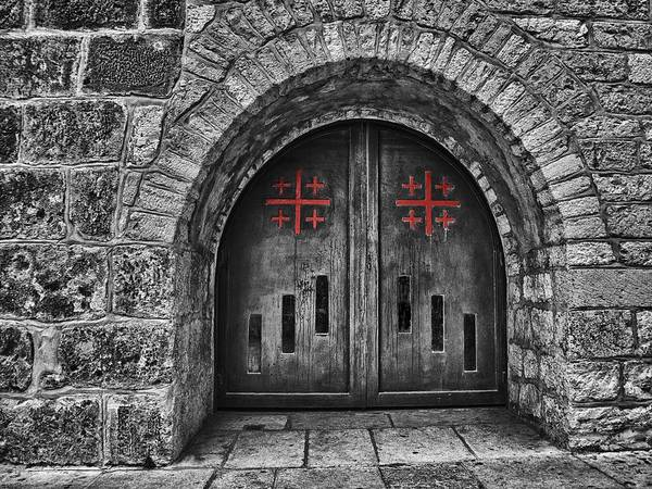 Photograph - Bethlehem Doorway Bw by Mark Fuller