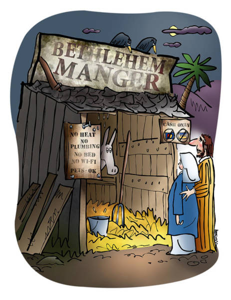 Digital Art - Bethlehem Manger by Mark Armstrong