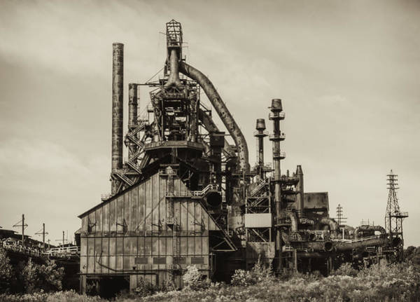 Photograph - Bethlehem Pa Steel Plant   by Bill Cannon
