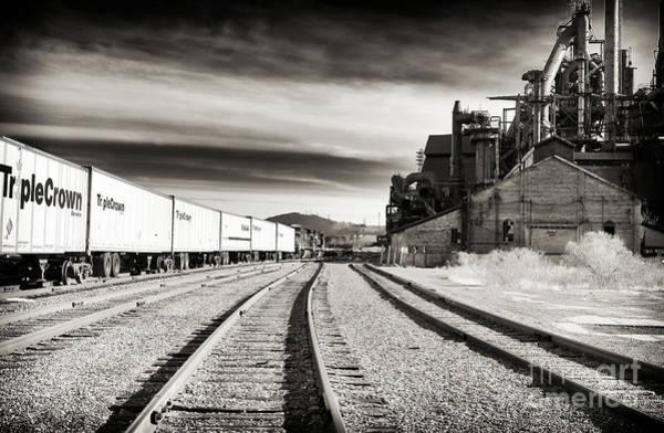 Photograph - Bethlehem Steel Tracks by John Rizzuto