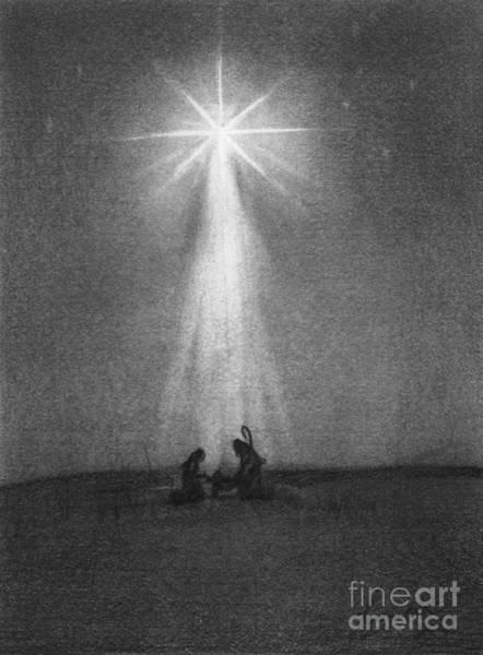 Night Time Drawing - Bethlehem's Star by J Ferwerda