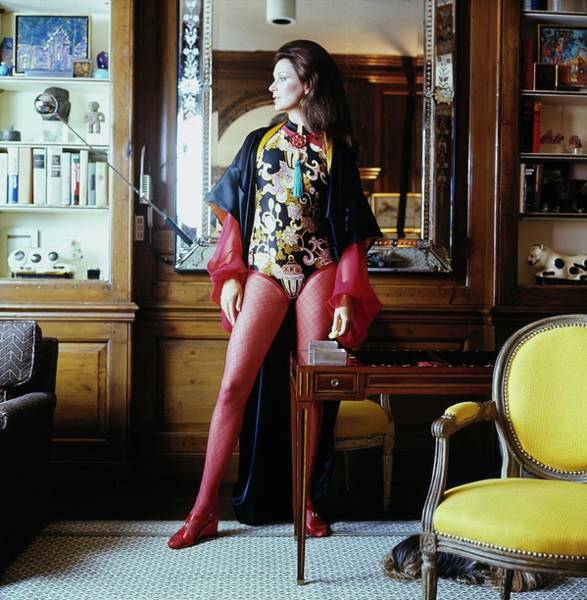 Furniture Photograph - Betsy Pickering Theodoracopulos At Home by Bert Stern