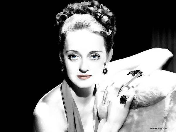 Digital Art - Bette Davis Large Size Portrait by Gabriel T Toro