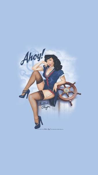 Model A Digital Art - Bettie Page - Ahoy by Brand A