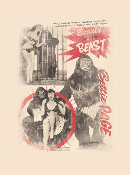 Model A Digital Art - Bettie Page - Beauty And The Beast by Brand A
