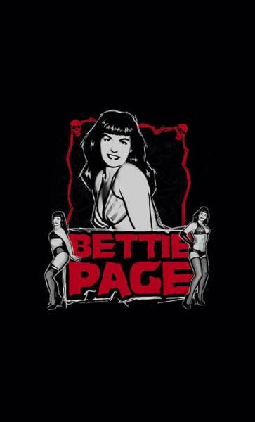 Model A Digital Art - Bettie Page - Bettie Scary Hot by Brand A