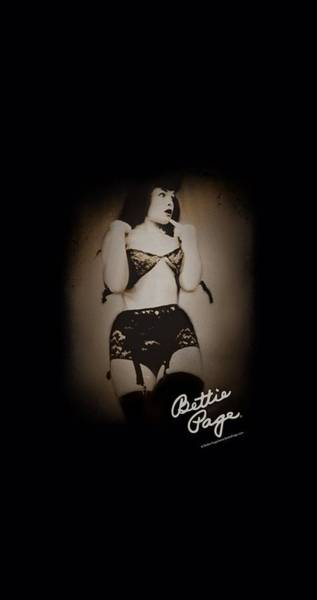 Model A Digital Art - Bettie Page - Caught by Brand A