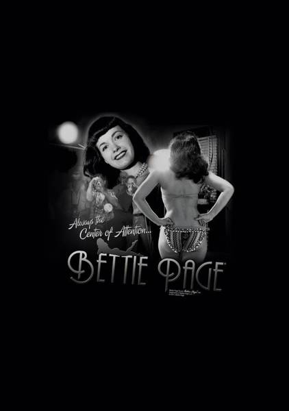 Model A Digital Art - Bettie Page - Center Of Attention by Brand A