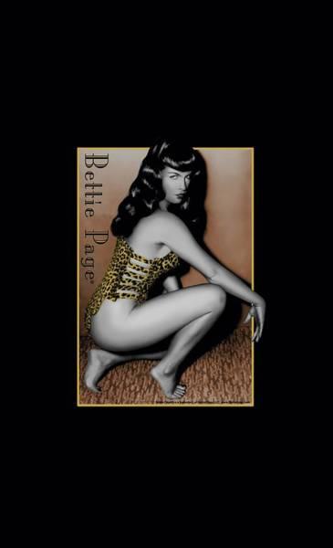 Model A Digital Art - Bettie Page - Crouching Leopard by Brand A