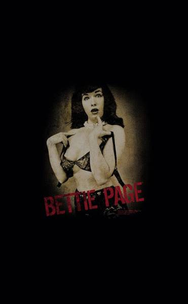 Model A Digital Art - Bettie Page - Distressed Tease by Brand A
