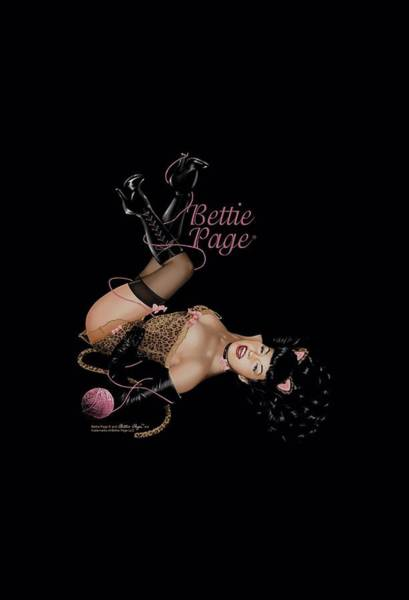 Model A Digital Art - Bettie Page - Kitty Pin Up by Brand A