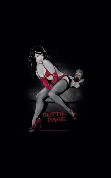 Model A Digital Art - Bettie Page - Monkey Business by Brand A