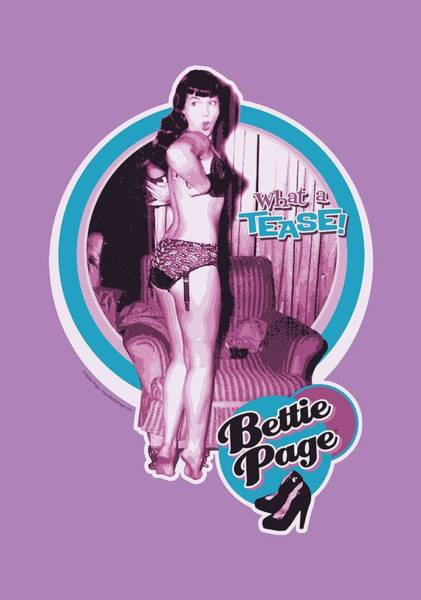 Model A Digital Art - Bettie Page - What A Tease by Brand A