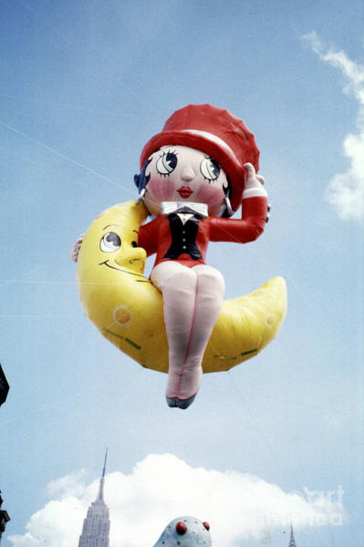Balloon Festival Digital Art - Betty Boop Sits On The Moon Floating by Wernher Krutein