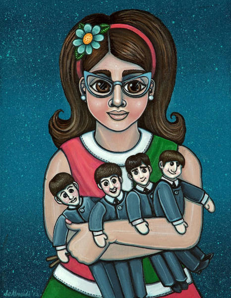 Painting - Betty Jeans Beatles by Victoria De Almeida