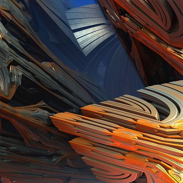 Wall Art - Digital Art - Between A Rock And A Hard Place by Lyle Hatch