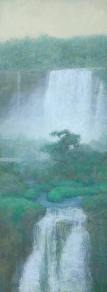 Wall Art - Painting - Between Falls by Steve Mitchell