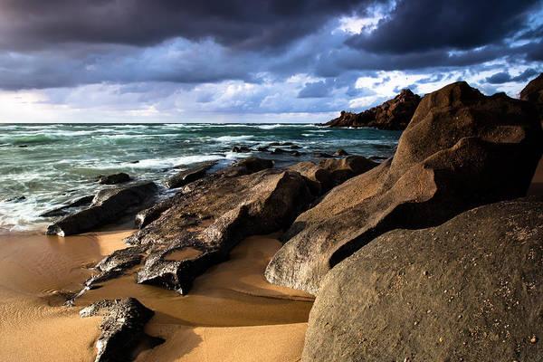 Between Rocks And Water Art Print