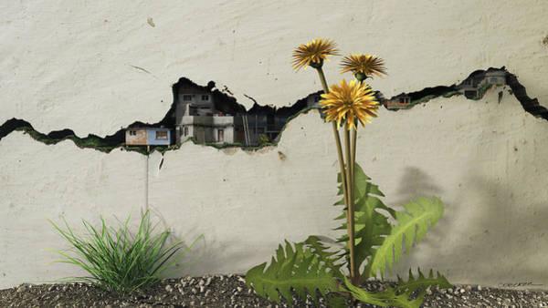 Poverty Wall Art - Digital Art - Between The Cracks by Cynthia Decker