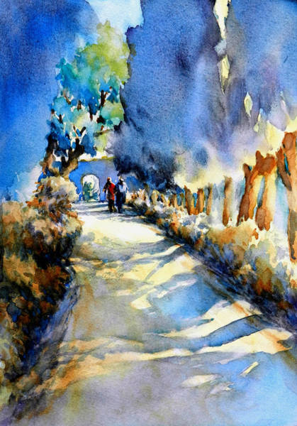 Provence Landscape Wall Art - Painting - Between The Shadows And The Light by Virgil Carter