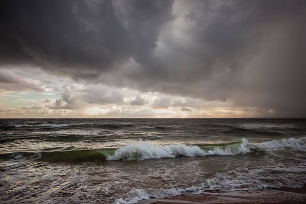 Photograph - Beverly Beach Storm by Maria Robinson
