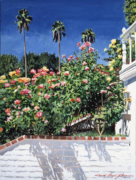 Long Shadow Painting - Beverly Hills Roses by David Lloyd Glover