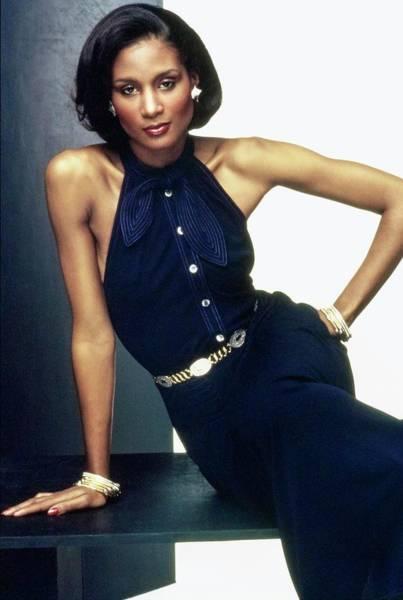 Wall Art - Photograph - Beverly Johnson Wearing Jean Muir by Bob Stone
