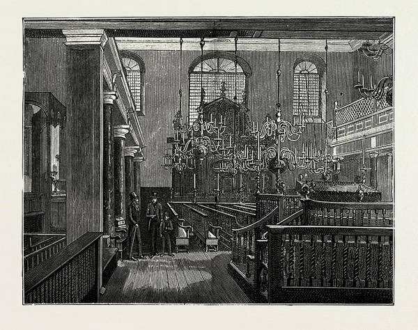 Wall Art - Drawing - Bevis Marks Synagogue by Litz Collection