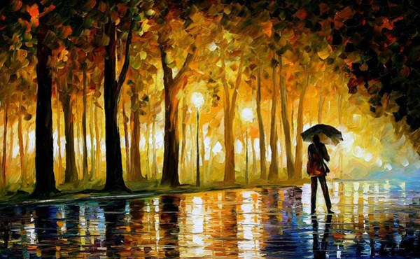 Wall Art - Painting - Bewitched Park - Palette Knife Landscape Oil Painting On Canvas By Leonid Afremov by Leonid Afremov