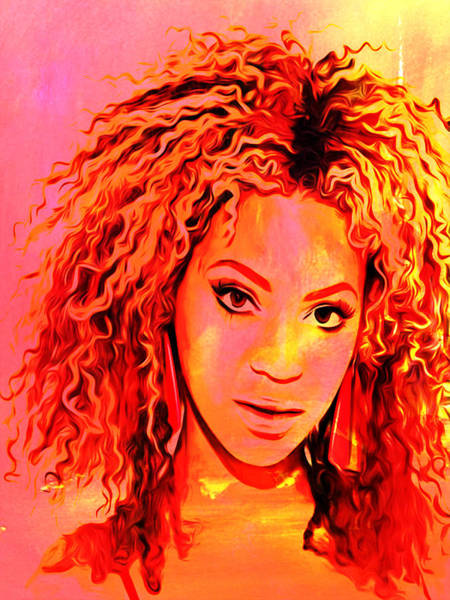 Child Actress Painting - Beyonce by Brian Reaves