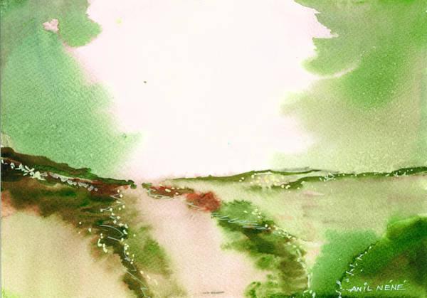 Painting - Beyond Horizon 2 by Anil Nene