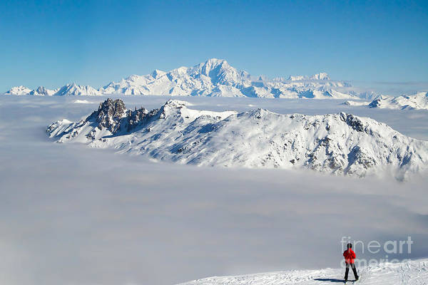 Mont Blanc Wall Art - Photograph - Beyond The Clouds by Delphimages Photo Creations