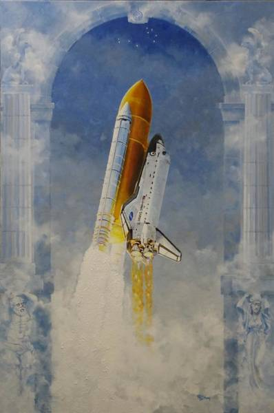 Pleiades Painting - Beyond The Pillars Of Hercules by Mark Bray
