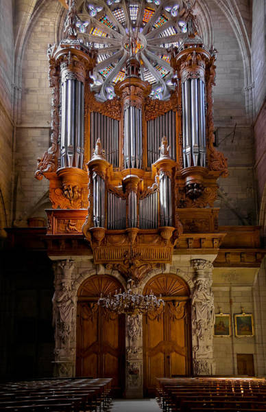 Beziers Pipe Organ Art Print