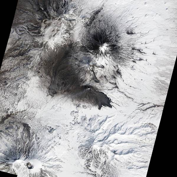 Active Volcano Photograph - Bezymianny Volcano by Nasa/science Photo Library