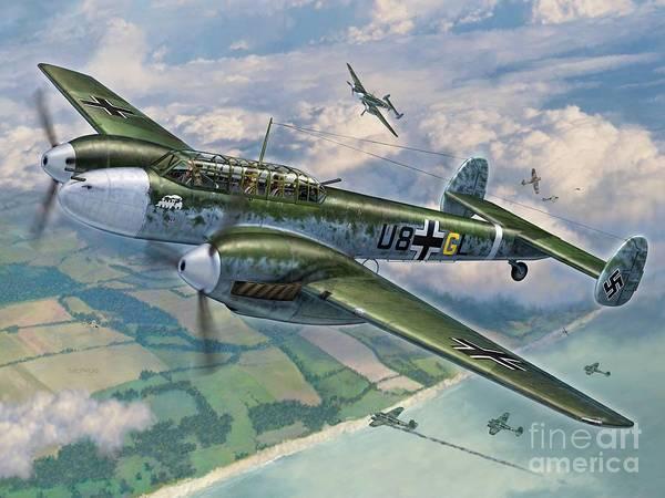 Battle Of Britain Digital Art - Bf-110 Zerstorer by Stu Shepherd