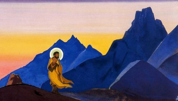 Nk Roerich Painting - Bhagavan by Nicholas Roerich
