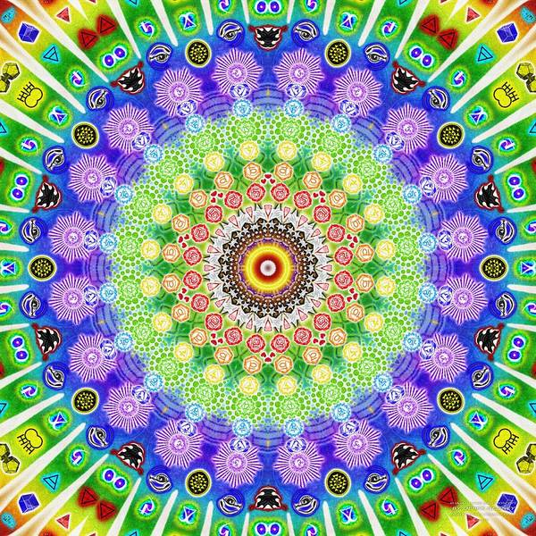 Digital Art - Bhajan Hand Kaleidoscope by Derek Gedney