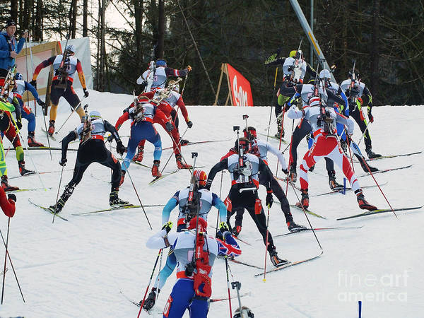 Worldcup Photograph - Biathlon Worldcup Start Phase by Rudi Prott