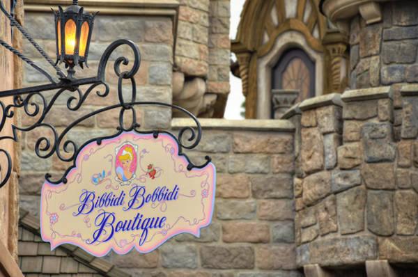 Cinderella Wall Art - Photograph - Bibbidi Bobbidi Boutique by Ricky Barnard