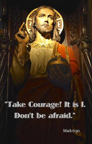 Bible Quote  Mark 6  50 Art Print